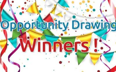Opportunity Drawing Winners!