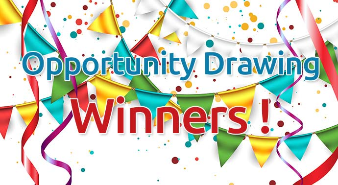 Opportunity Drawing Winners!